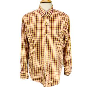 J.CREW  Washed Shirt Yellow Red Tattersall